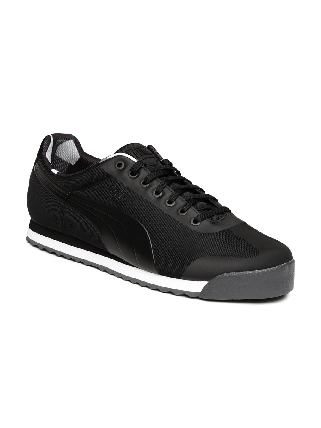 Buy Puma Men Black Solid Roma Basic Geometric Camo Regular Sneakers ... 8401ec8ed