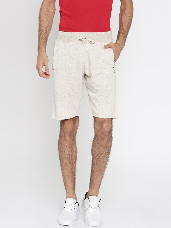 81d22814d930 Buy Parx Men Off White Melange Knee Length Shorts - Shorts for Men ...