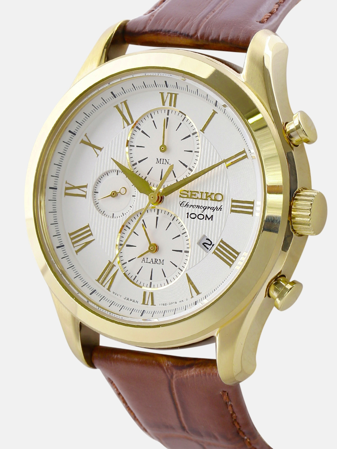 f1835d1cc048 Buy SEIKO Men Off White Chronograph Dial Watch SNAF72P1 - Watches ...