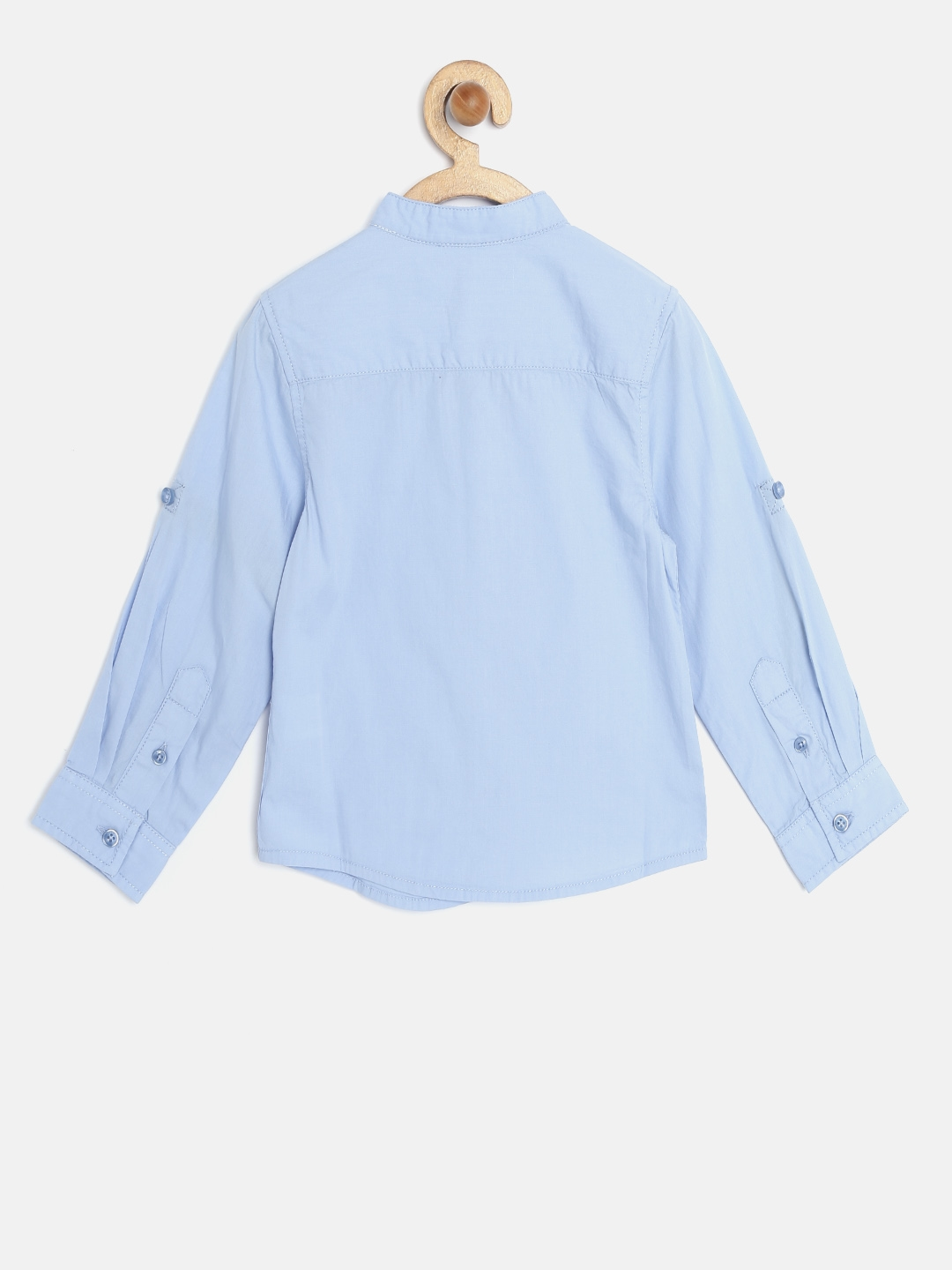 7ca56d5d1 Buy United Colors Of Benetton Boys Blue Solid Shirt - Shirts for ...