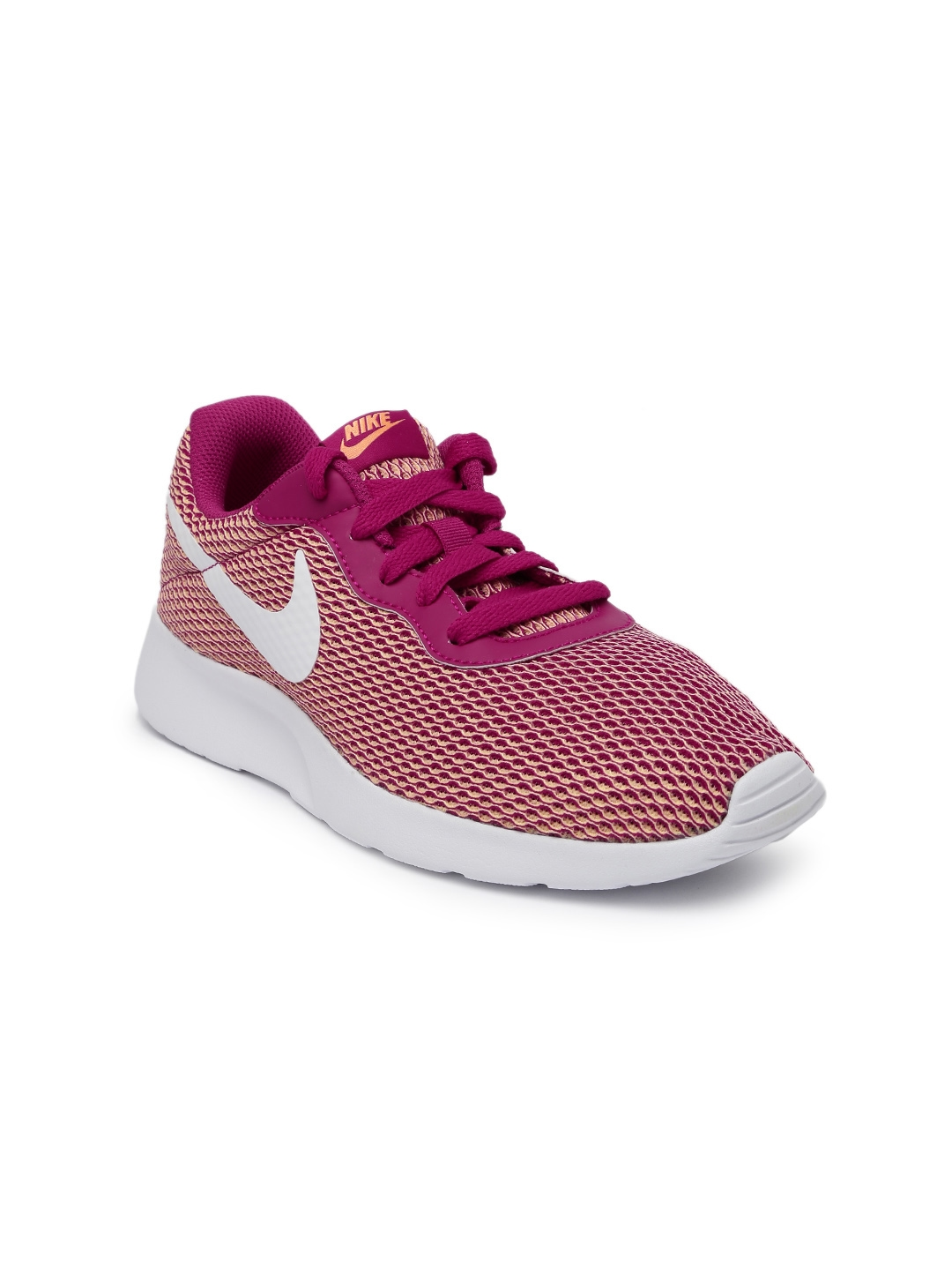 ab6f21ccbc21b5 Buy Nike Women Pink   Peach Coloured Tanjun SE Sneakers - Casual ...