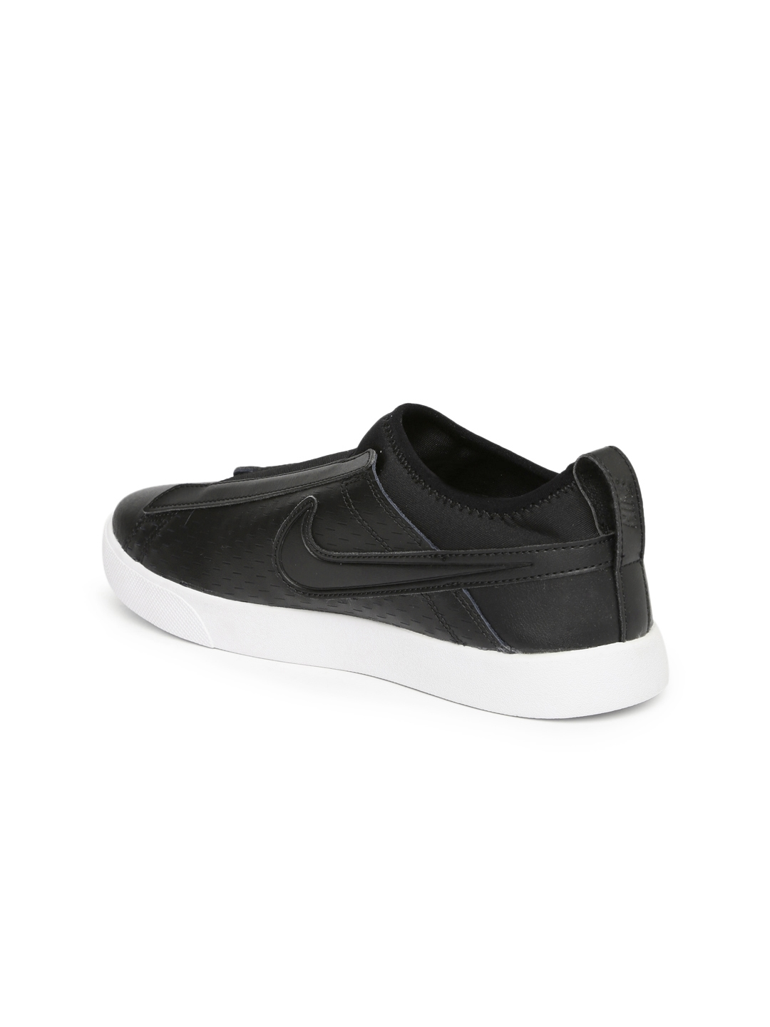 3048d482471ed Buy Nike Women Black Leather Racquette 17 Slip On Sneakers - Casual ...