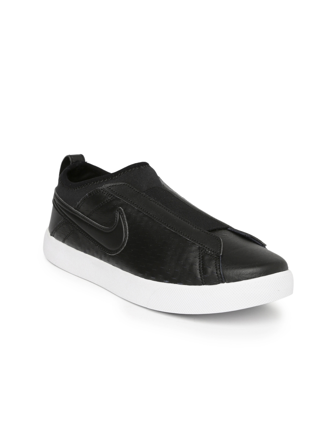 3aab4330008 Buy Nike Women Black Leather Racquette 17 Slip On Sneakers - Casual ...