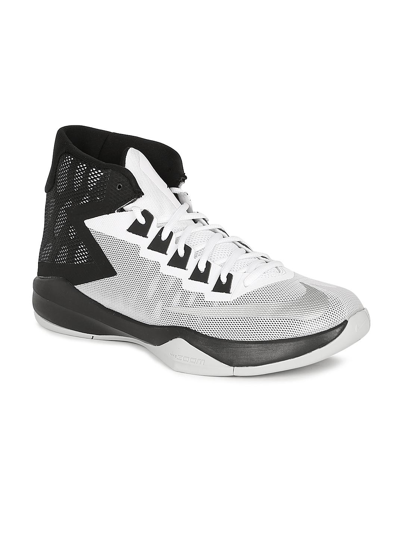 80b599acc72 Buy Nike Men White   Black ZOOM DEVOSION Basketball Shoes - Sports ...