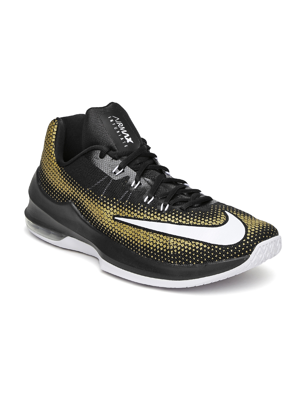 huge discount d7d68 ac22a Nike Men Black   Brown Air Max Infuriate Low Basketball Shoes