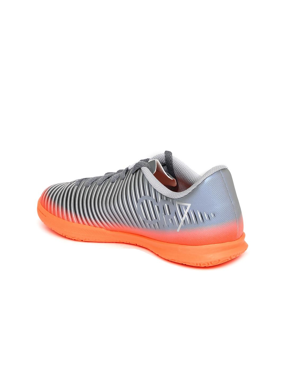 f608c4b3ee87c Buy Nike Unisex Grey   Orange MERCURIALX VORTEX 3 CR7 Football Shoes ...