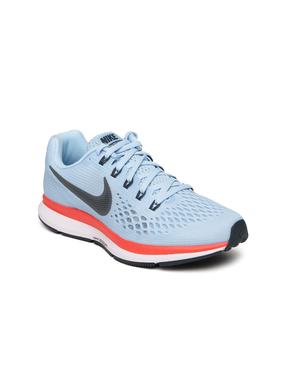 2d0e1221acde ... Nike Women Blue AIR ZOOM PEGASUS 34 Running Shoes ...
