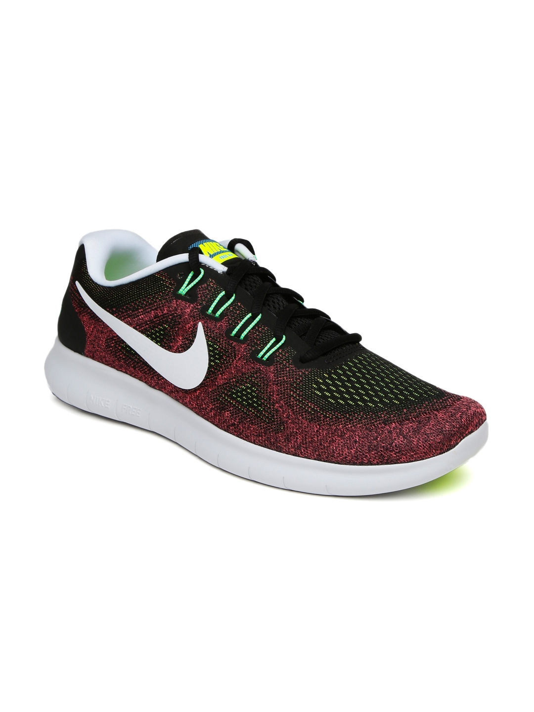71c6546cd641 Buy Nike Men Burgundy   Black Free RN 2017 Running Shoes - Sports ...