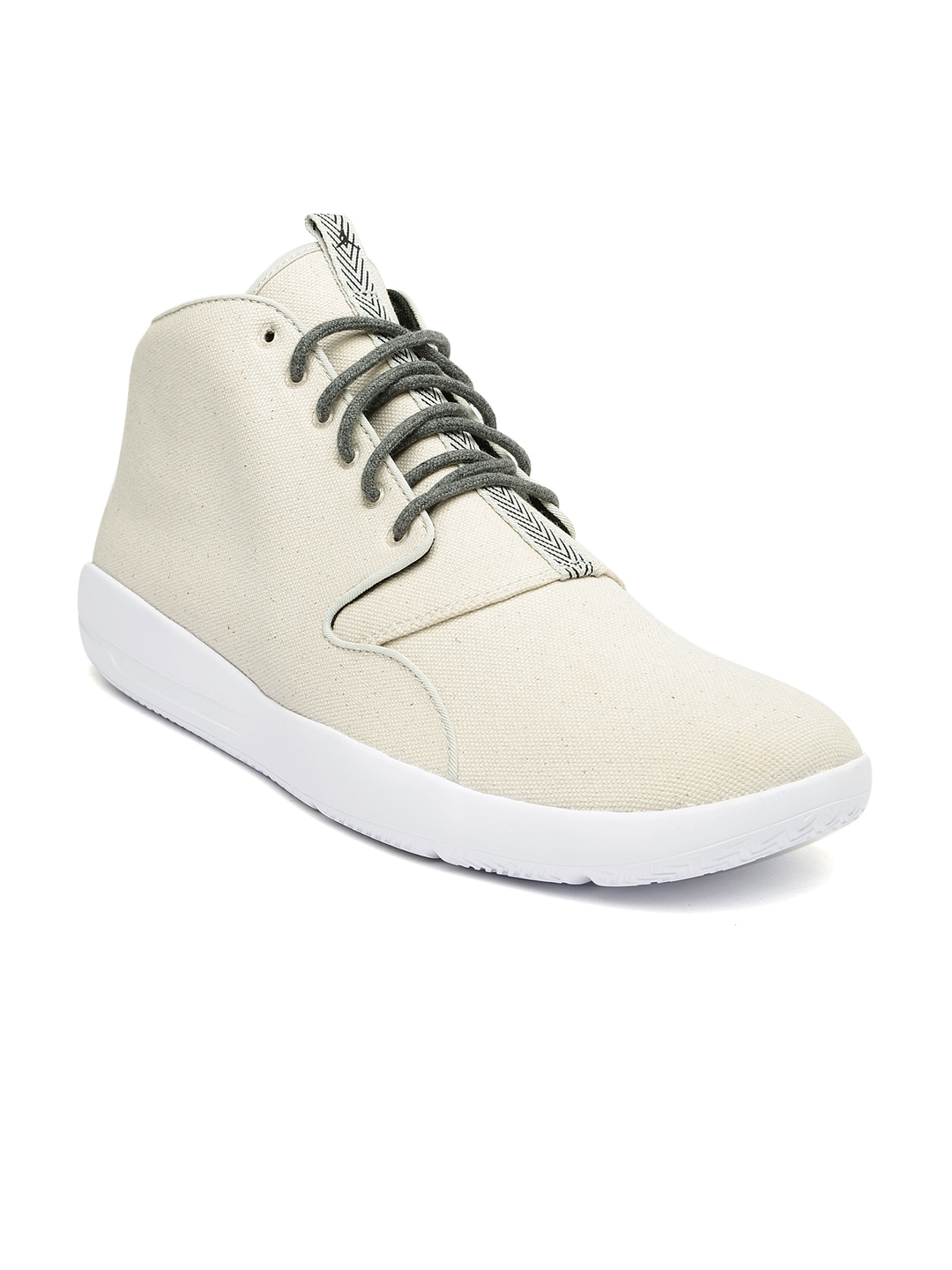 68205a87cd0dc6 Buy Nike Men Beige Jordan Eclipse Chukka Solid High Top Sneakers ...