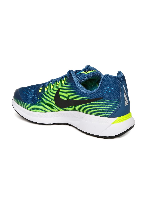 Buy Nike Boys Blue ZOOM PEGASUS 34 (GS) Running Shoes - Sports Shoes ... 35600b4535e3