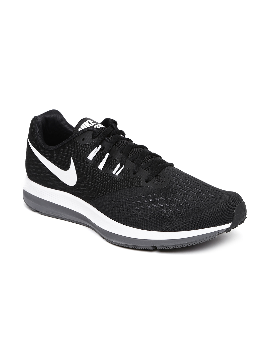 01f6608c55bc7 Buy Nike Men Black Zoom Winflo 4 Running Shoes - Sports Shoes for ...