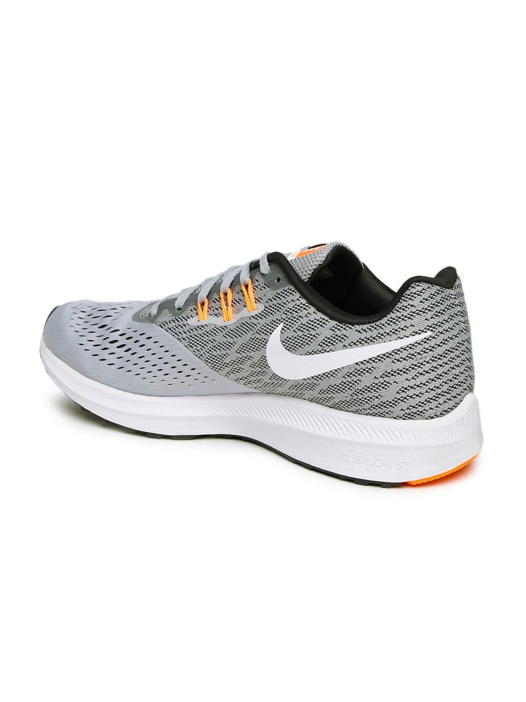 32430b2e11aea Buy Nike Men Grey Zoom Winflo 4 Running Shoes - Sports Shoes for Men ...