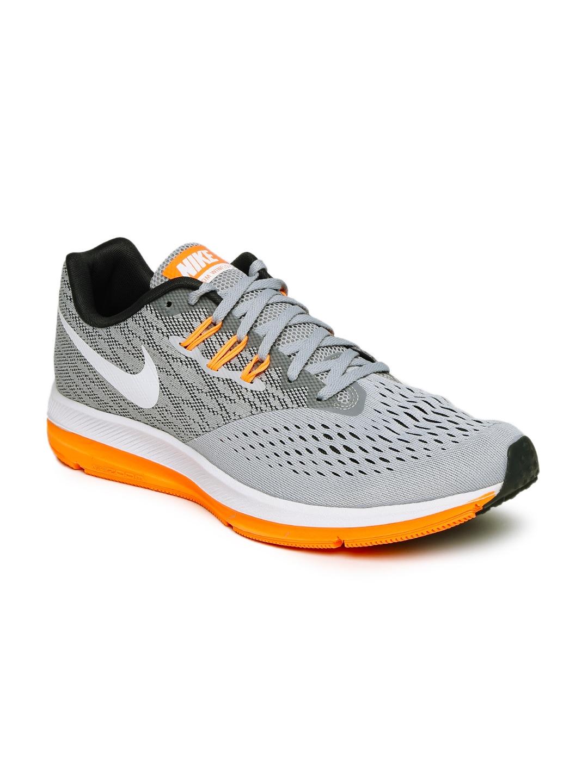 e6ff5f2528fab Buy Nike Men Grey Zoom Winflo 4 Running Shoes - Sports Shoes for Men ...