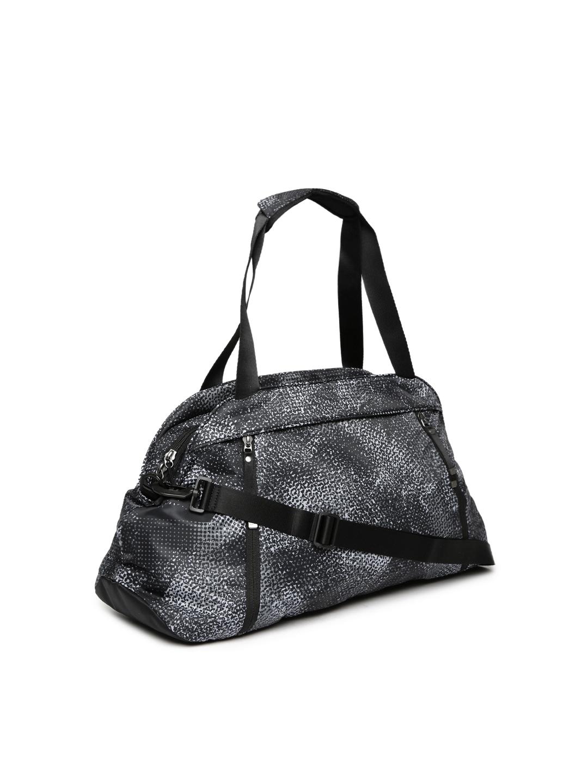 245f1edb0c Buy Nike Women Black & Grey Aura Printed Training Duffel Bag ...