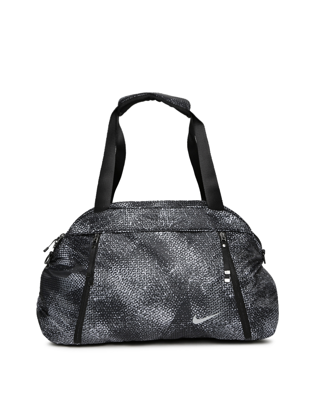 Buy Nike Women Black   Grey Aura Printed Training Duffel Bag ... 23f5627c05