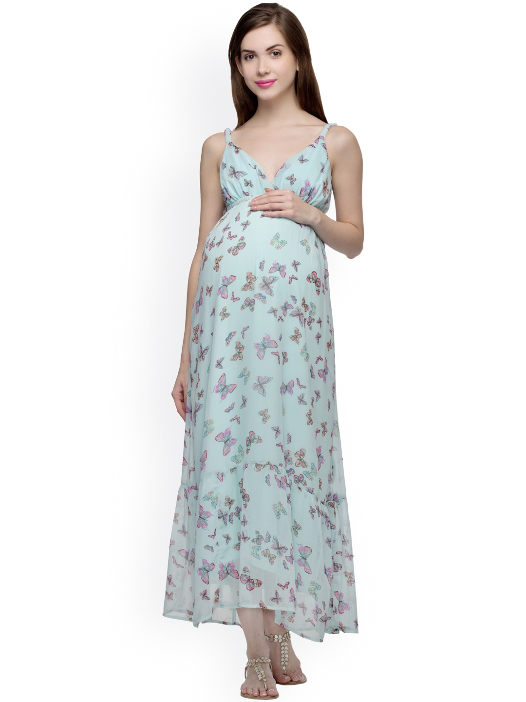 Oxolloxo maternity dresses buy oxolloxo maternity dresses online oxolloxo women blue printed maternity maxi dress ombrellifo Gallery