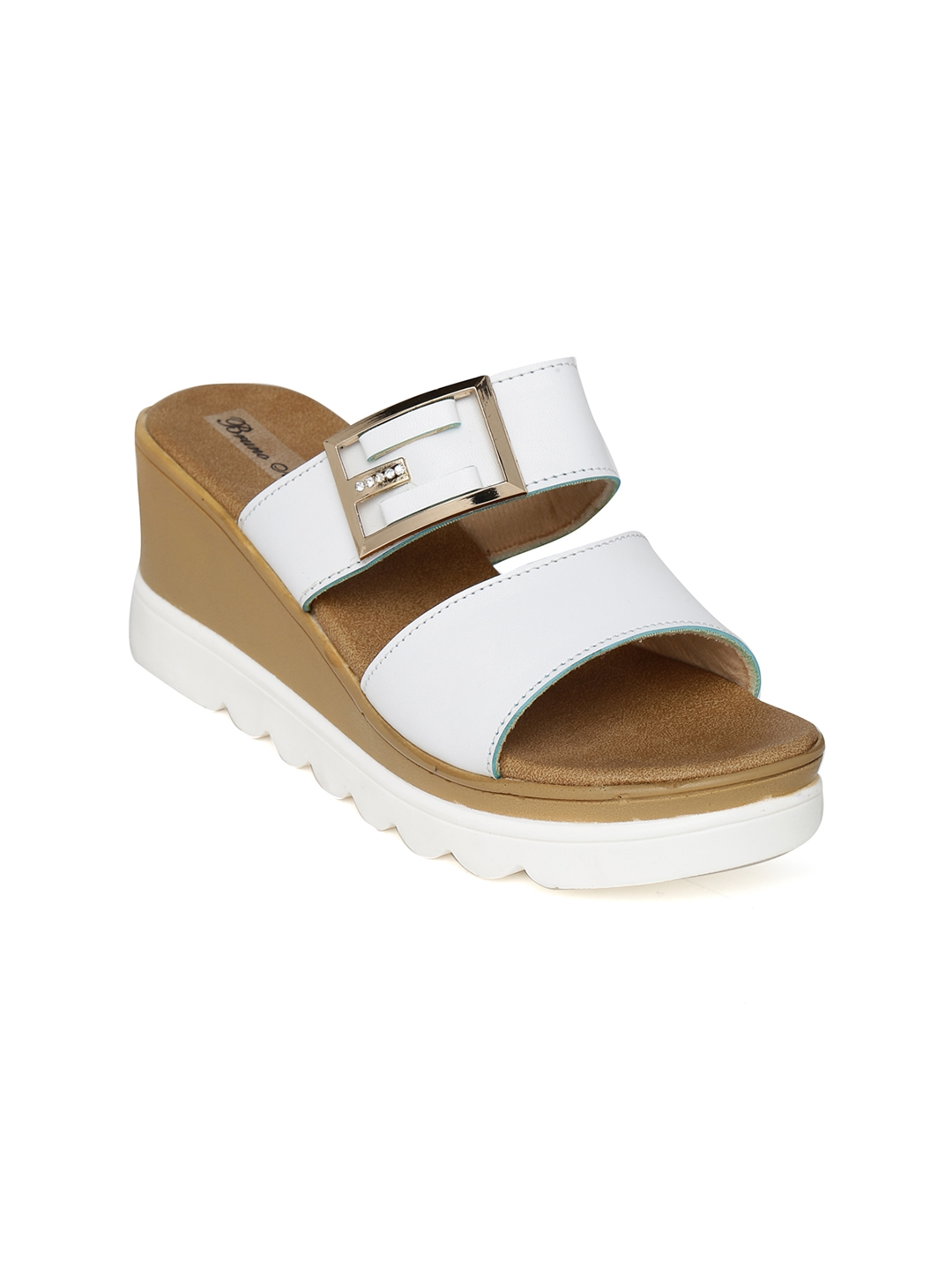 Bruno Manetti Women White Solid Wedges