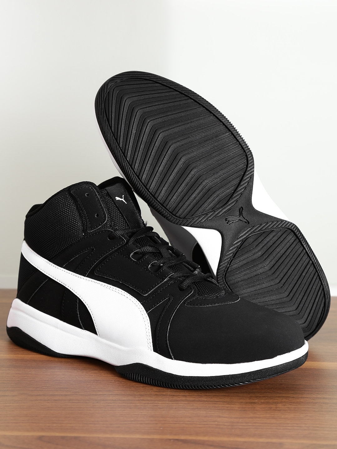 3d103efcfa35b Buy Puma Men Black Rebound Street Evo SL IDP Mid Top Sneakers ...