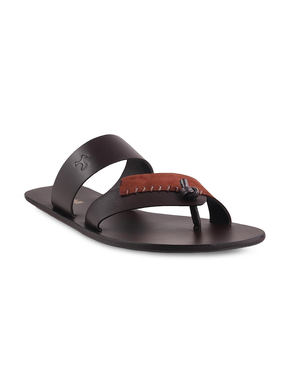 4288a86abc8 Buy Mochi Men Brown Leather Sandals - Sandals for Men 1808054