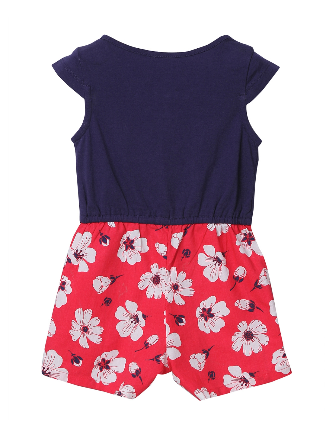 6b6c00a63f9 Buy Beebay Girls Navy   Red Floral Print Playsuit - Jumpsuit for ...