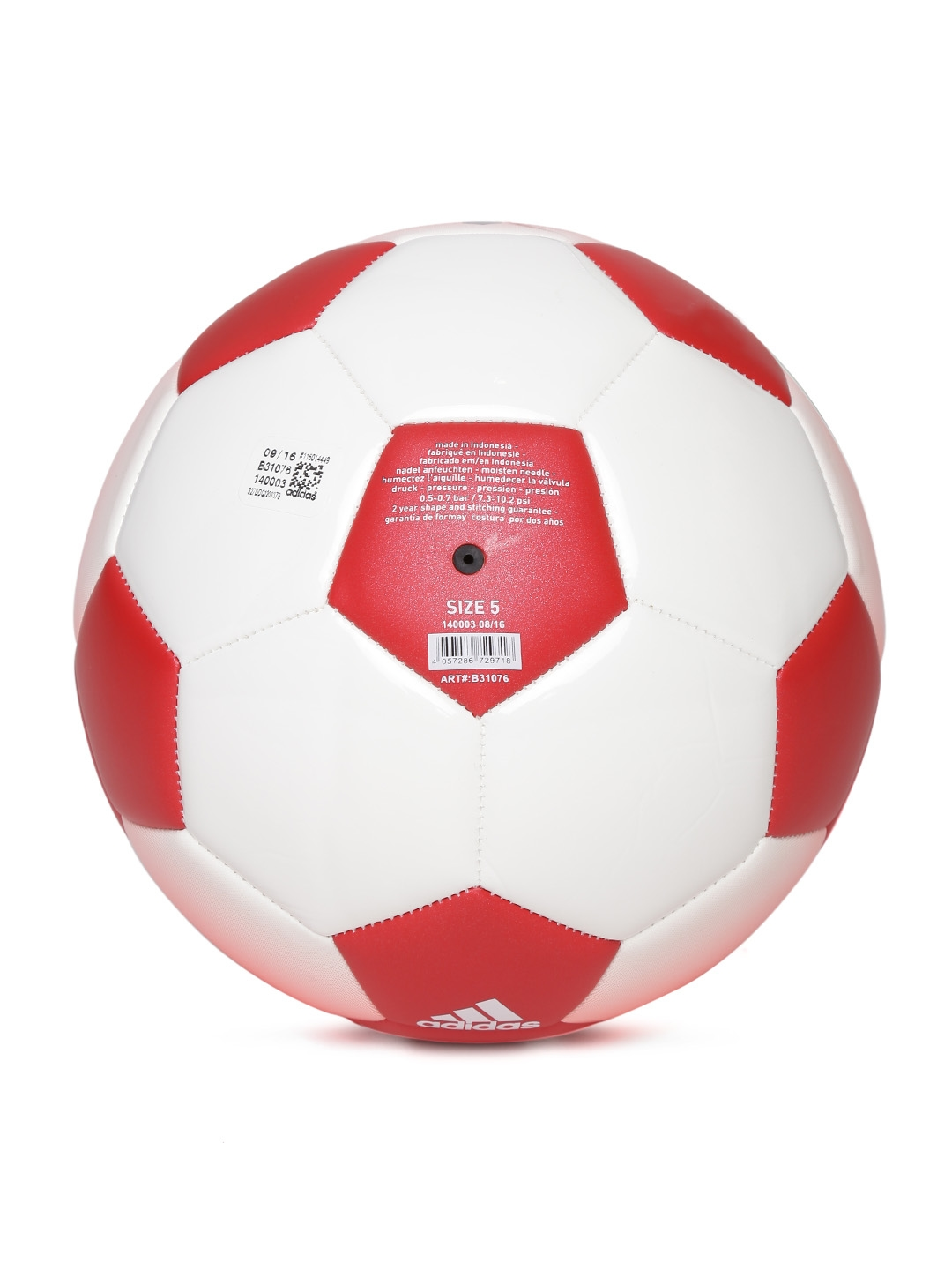 11ecfece2cd8a Buy ADIDAS Men White   Red Messi Q1 Dyed Football - Footballs for ...