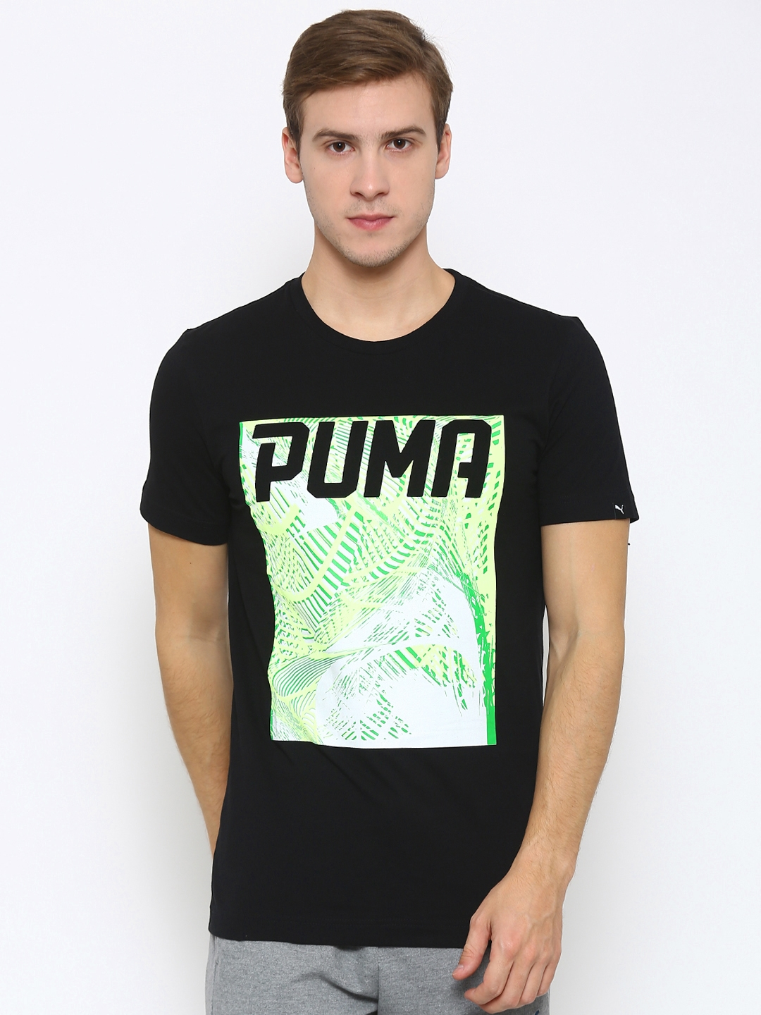 2d59a4aace4 Buy Puma Black Dynamo Printed Slim Fit T Shirt - Tshirts for Men ...