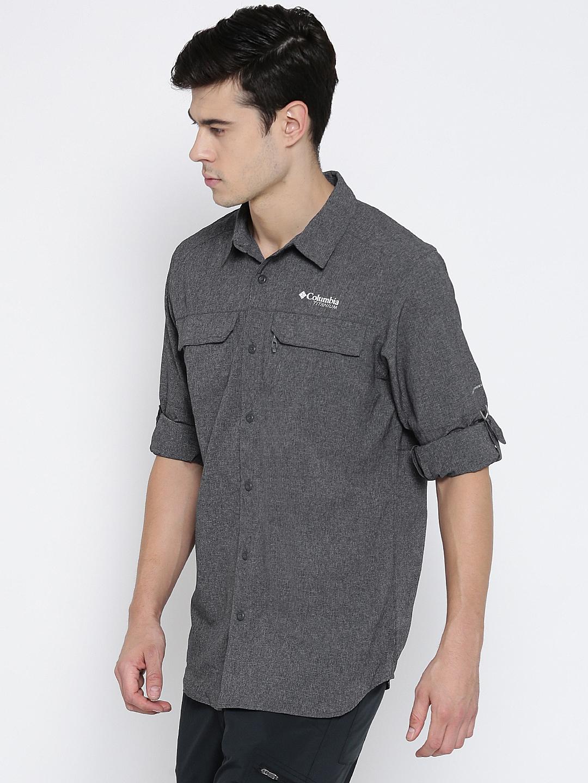 410ff0b4a34 Buy Columbia Men Grey Irico Long Sleeve Self Design Outdoor Shirt ...
