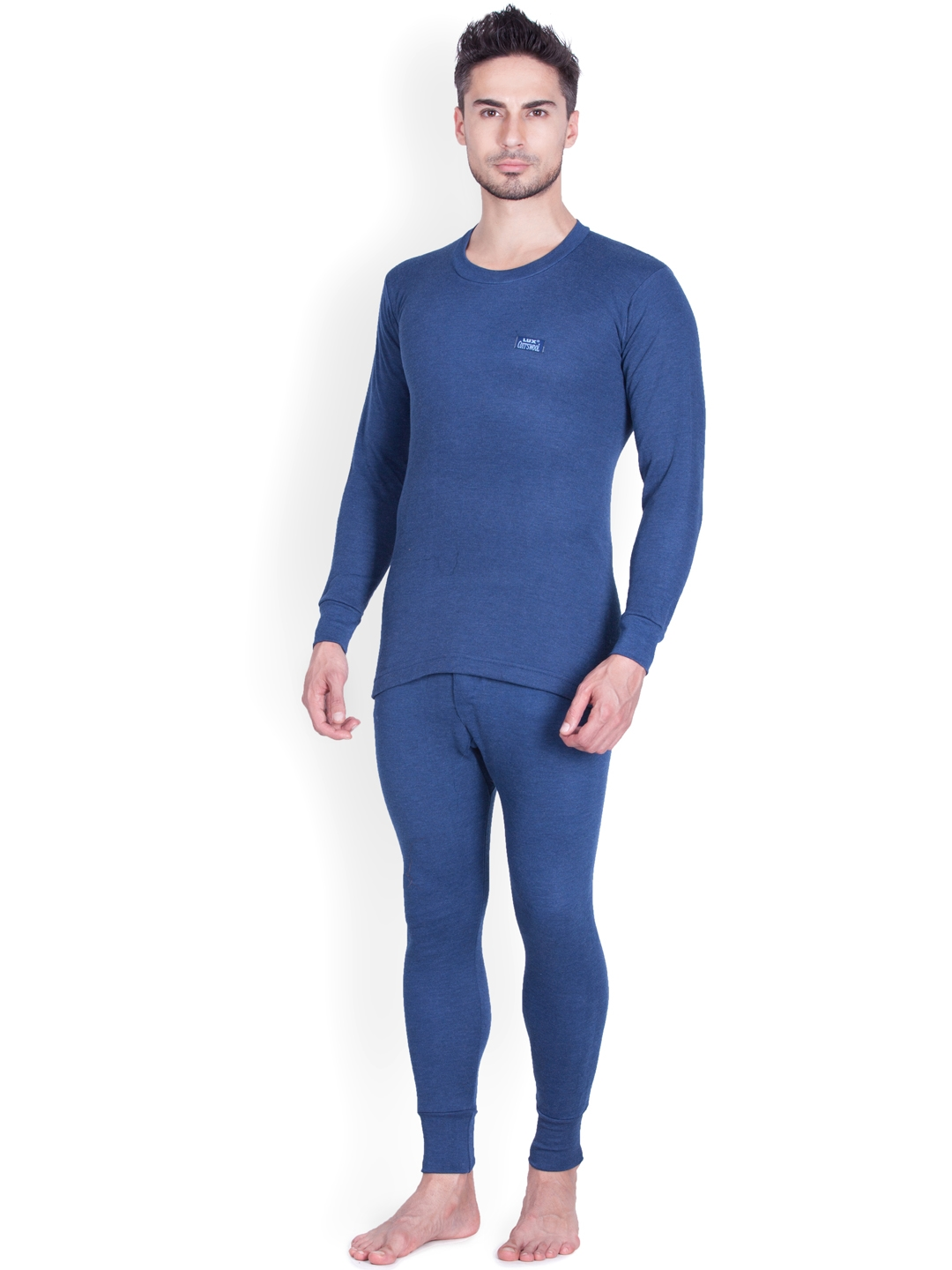 Lux Cottswool Blue Thermal Clothing Set