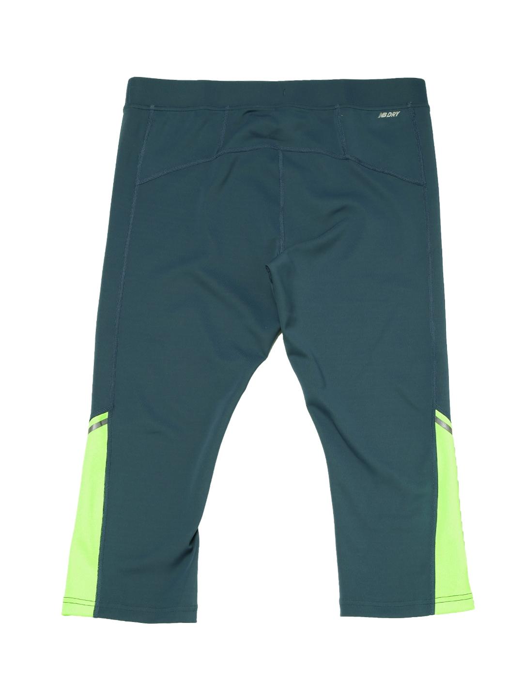 c7e3fd28015fd Buy New Balance Women Teal Blue & Fluorescent Green 3/4th Tights ...