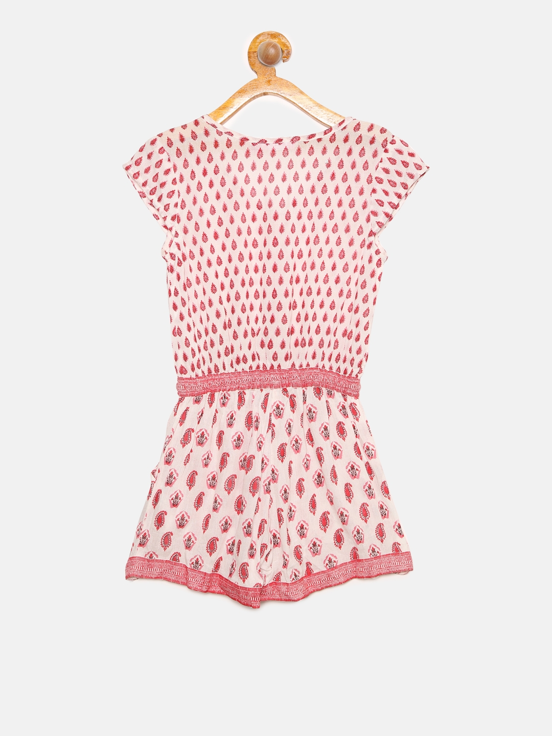 fc286b2852a Buy Biba Girls Pink   White Paisley Print Playsuit - Jumpsuit for ...