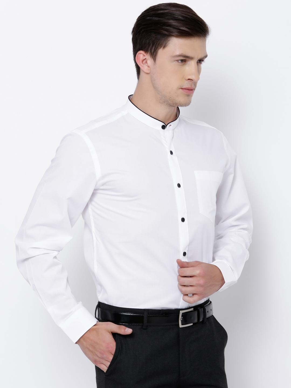 aa106691b9 Buy Black Coffee Men White Slim Fit Solid Formal Shirt - Shirts for ...