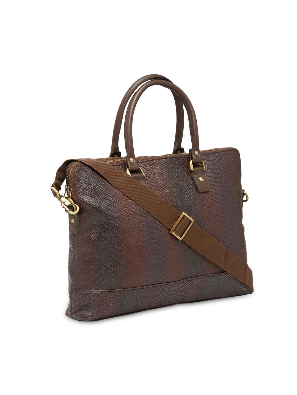 8e91f8603 Buy BagsRus Unisex Brown Faux Leather Textured Laptop Bag - Laptop ...