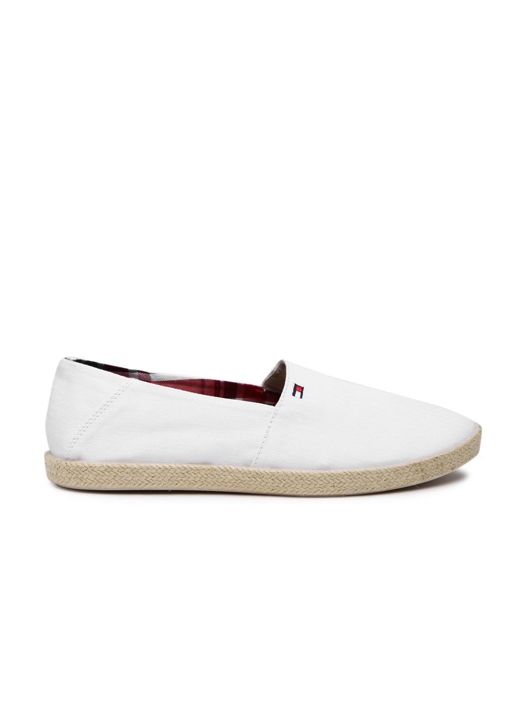 3ee2282ac25b7c Buy Tommy Hilfiger Men White Solid Espadrilles - Casual Shoes for ...