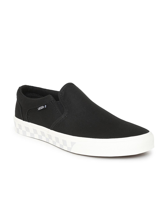 3d28d7f6e1 Buy Vans Men Black Asher Slip On Sneakers - Casual Shoes for Men ...