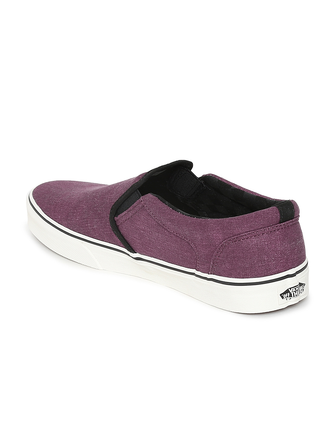 2a097748be0 Buy Vans Men Maroon Asher Slip On Sneakers - Casual Shoes for Men ...