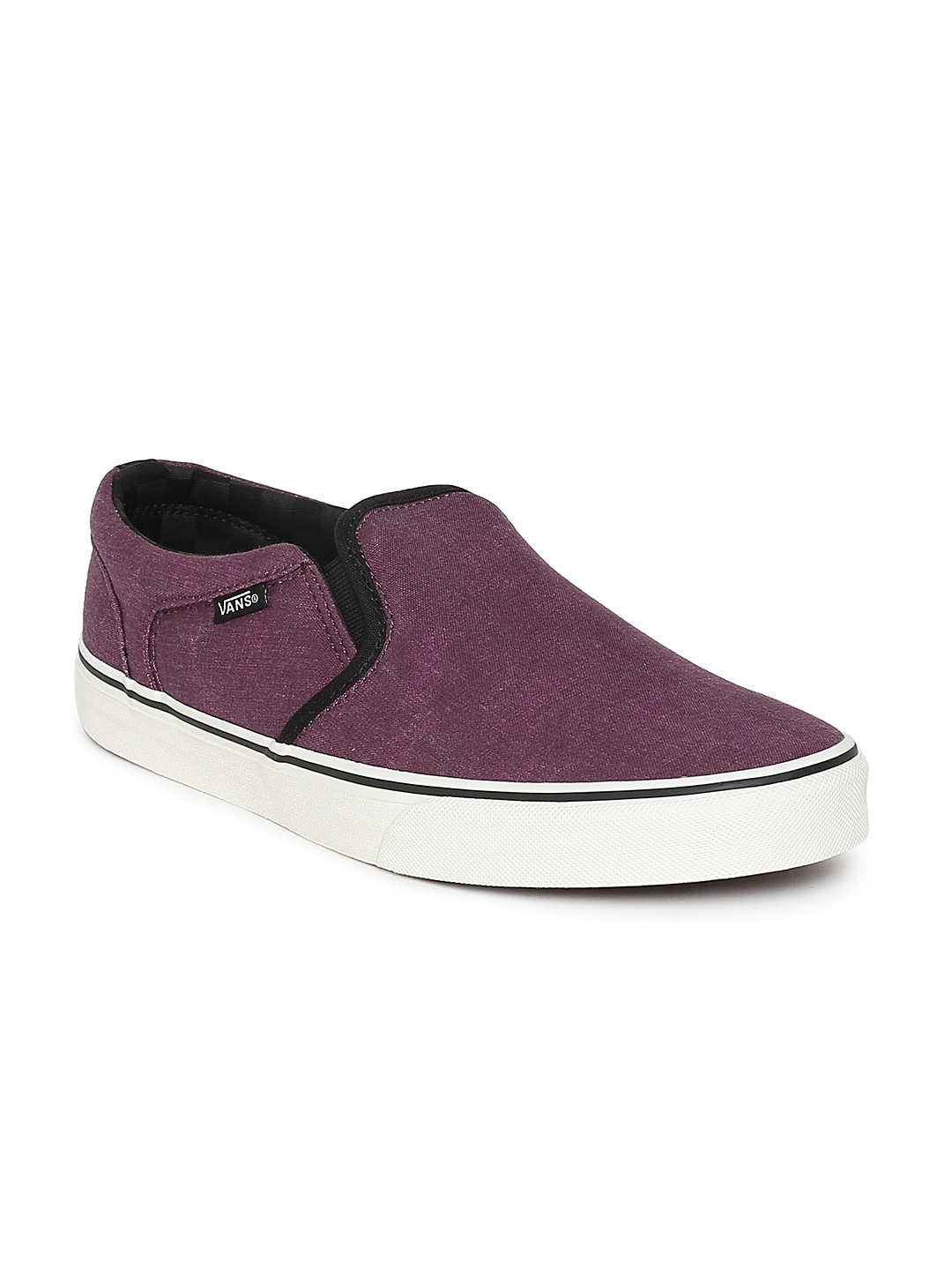 bf1f2095a6 Buy Vans Men Maroon Asher Slip On Sneakers - Casual Shoes for Men ...