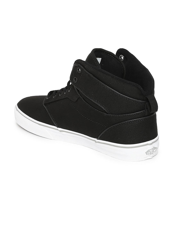 0b12f82ed663 Buy Vans Men Black ATWOOD Mid Top Sneakers - Casual Shoes for Men ...