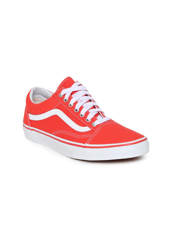 cda6ddfd44 Buy Vans Unisex Coral Red OLD SKOOL Sneakers - Casual Shoes for ...
