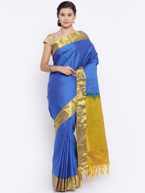 The Chennai Silks Classicate Blue Kanjeevaram Silk Traditional Saree