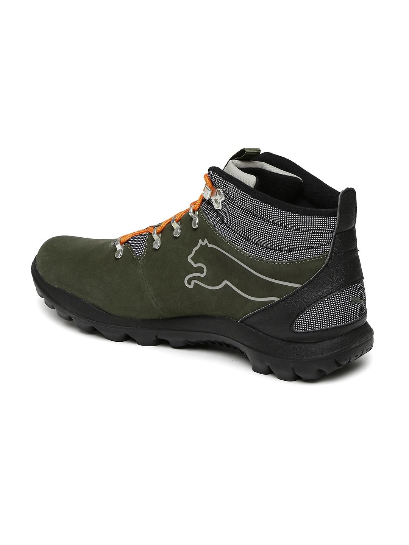Buy Puma Men Olive Green Tatau Fur Boot 2 IDP Mid Top Boots - Casual ... 42dde9d6a