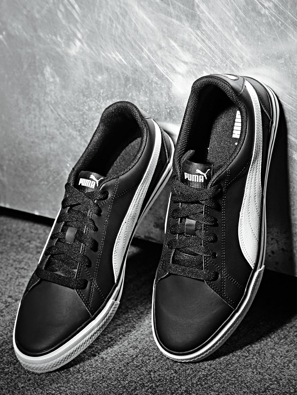 e3a9d2b17fc Buy Puma Men Black   White Court Point VULC V2 IDP Sneakers - Casual ...