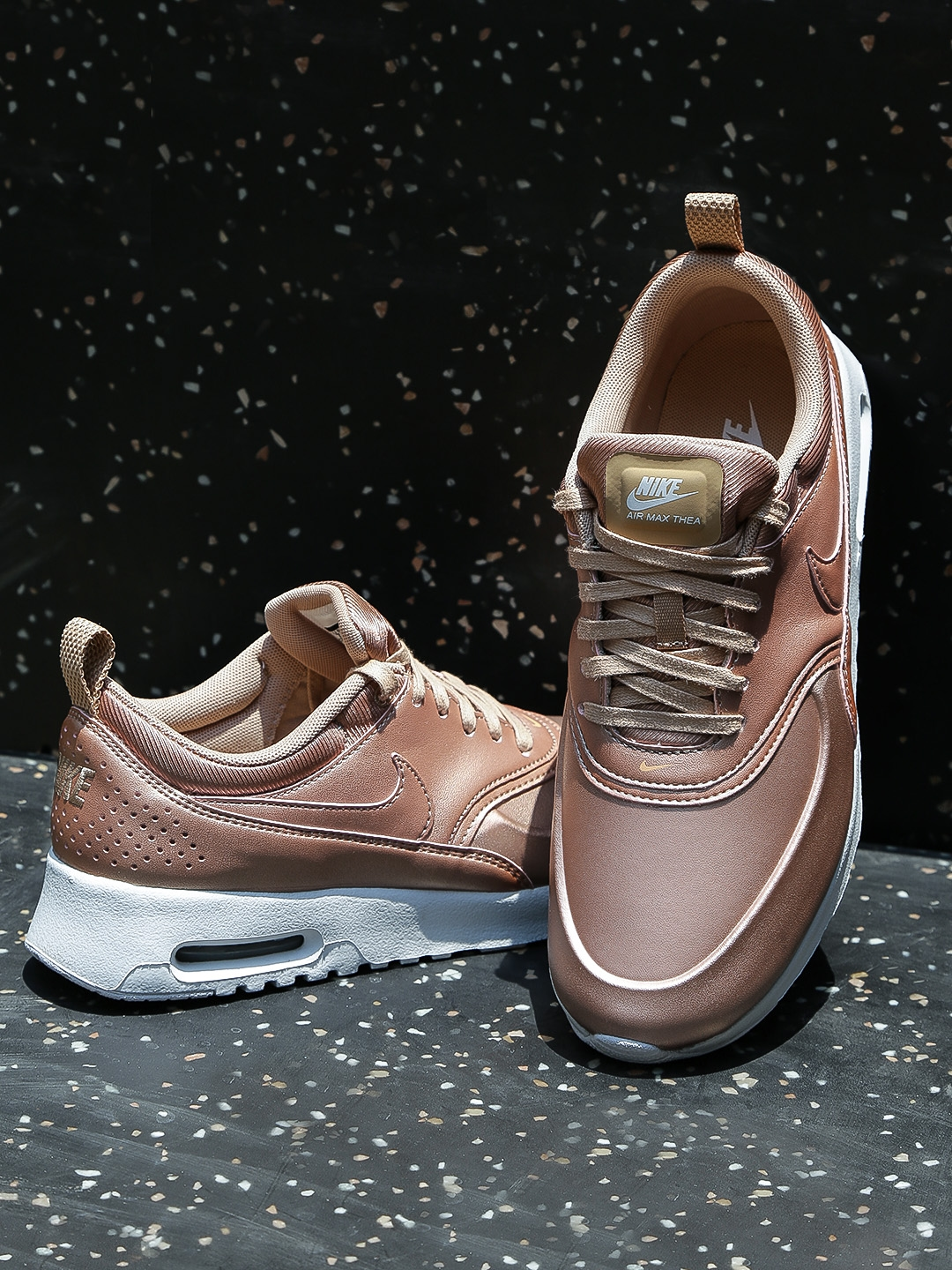 new arrivals dd230 952b3 Nike Women Rose Gold-Toned Air Max Thea Sneakers