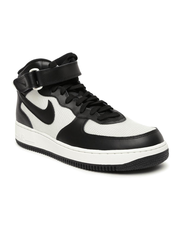 brand new 0cb4b a5a38 Nike Men Black Colourblocked Air Force 1 High-Top Sneakers