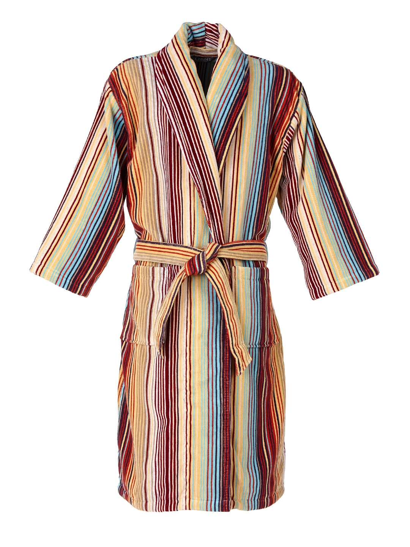 4b1e701921 Buy CHRISTY Unisex Multicoloured Striped Bathrobe - Bath Robe for ...