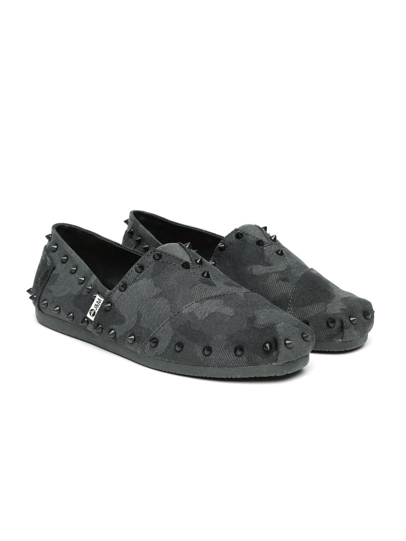 2b6812b2334 Buy Joy   Mario Men Grey Printed Metallic Studded Loafers - Casual ...