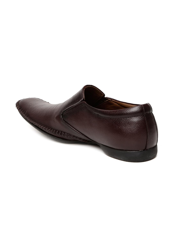 29141090e588 Buy Doc   Mark Men Brown Square Toed Genuine Leather Semiformal Slip ...