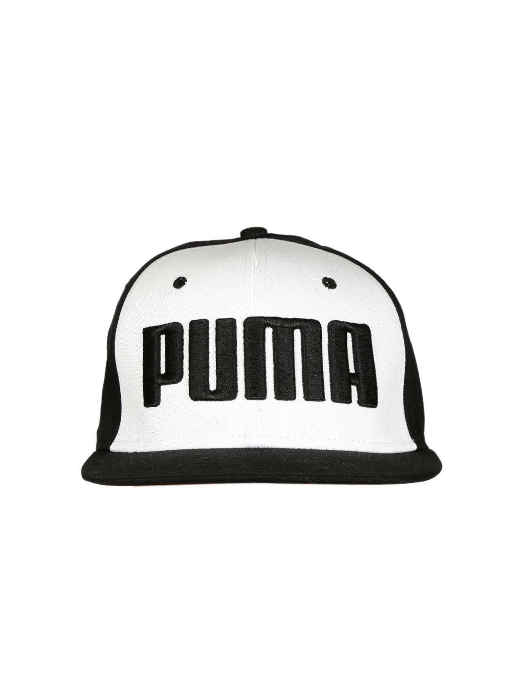 8c74d69bb4e Buy Puma Unisex White   Black ESS Flatbrim Printed Cap - Caps for Unisex  1831686