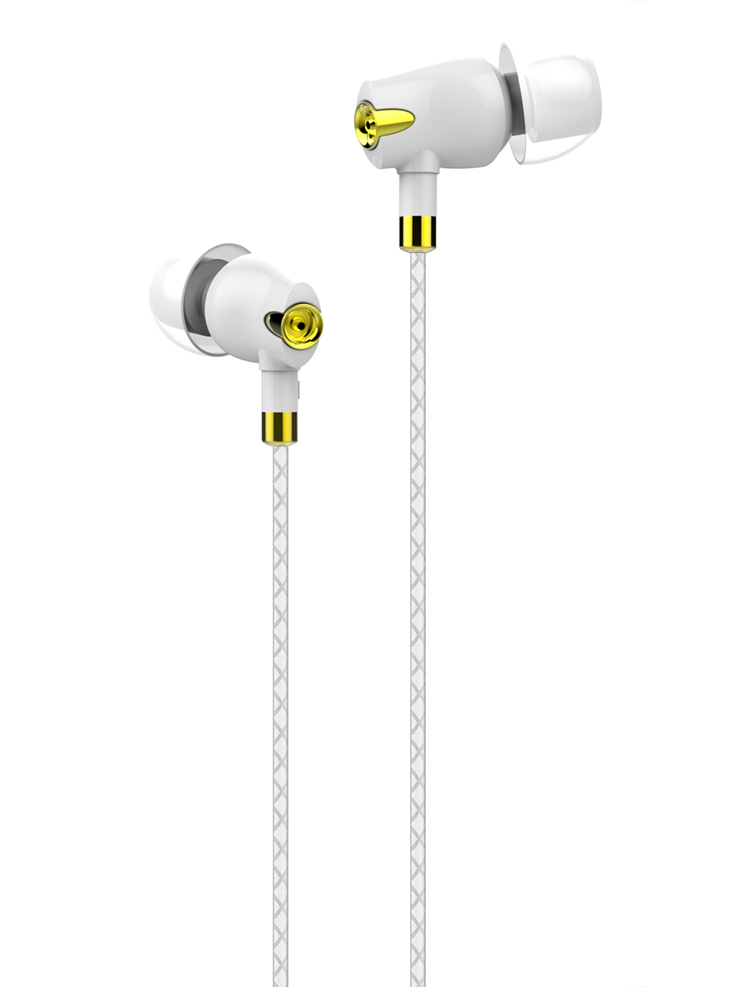 boAt White Bassheads Nirvaana Bliss Ceramic C360 Wired In Ear Earphones with Mic