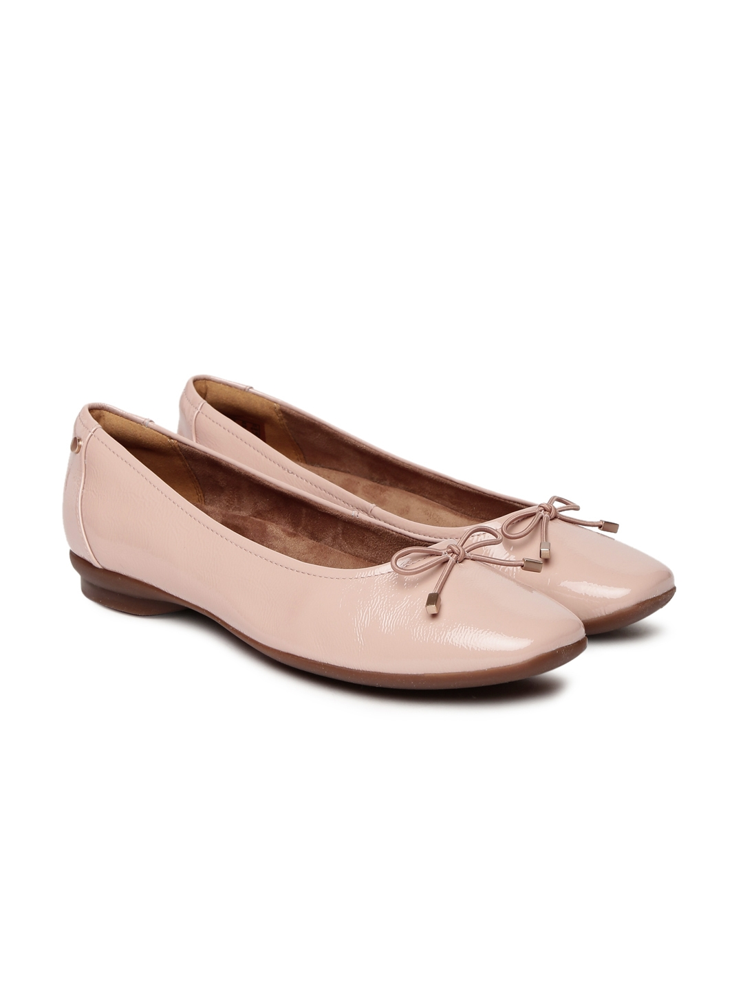 2d416a715f Buy Clarks Women Pink Shimmery Leather Ballerinas - Flats for Women ...