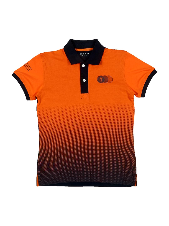 Buy Gini And Jony Boys Orange Printed Polo T Shirt Tshirts For